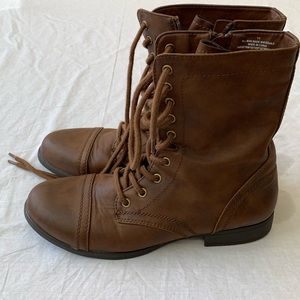 Target Brown Mid Calf  Women Lace Up Boots SZ 11